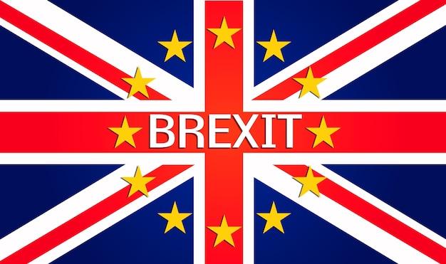 Brexit Wielka Brytania Wyjście Ue Z Europy Premium Wektorów