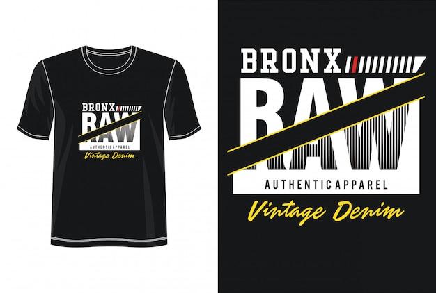 Bronx Typografia Do Koszulki Z Nadrukiem Premium Wektorów
