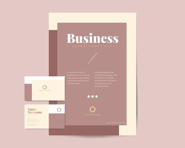 Broszura biznesowa i szablony nazwisk Darmowych Wektorów