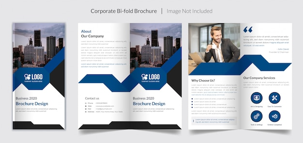 Broszura Korporacyjna Dla Firm Premium Wektorów
