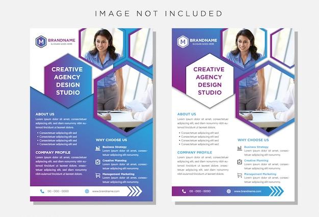 Broszura Ulotki, Szablon Formatu A4 Ulotki Biznesowej Premium Wektorów