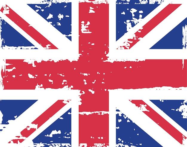 Brudne Grunge Flaga Wielkiej Brytanii Premium Wektorów
