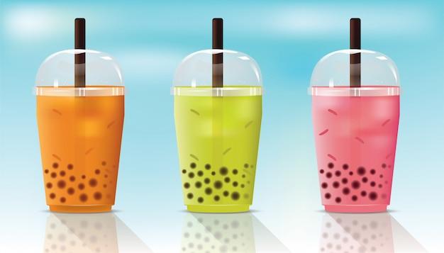 Bubble fresh tea cup Premium Wektorów