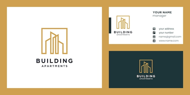 Budowa Lub Budowa Logo I Projekt Wizytówki Premium Wektorów