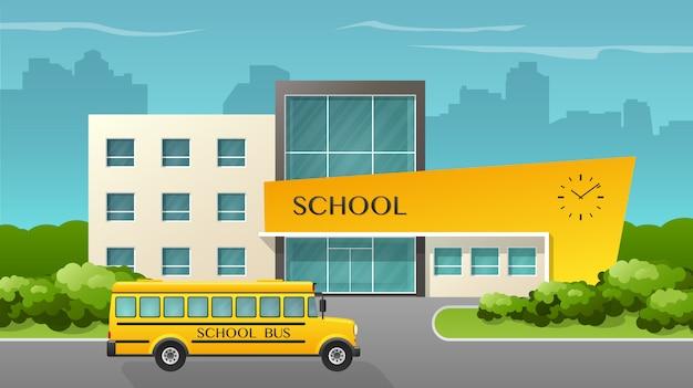 Budynek Szkoły Oraz B Premium Wektorów