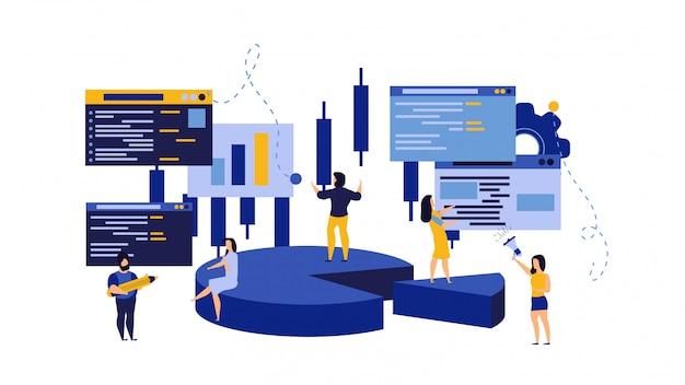 Budżetów Dane Ludzie, Biznesowej Analizy Ilustracja. Premium Wektorów
