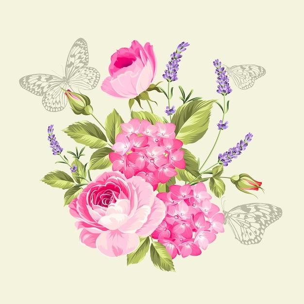 Bukiet Wiosennych Kwiatów Darmowych Wektorów