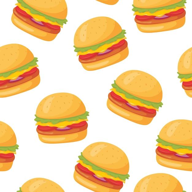 Burger Wzór Premium Wektorów