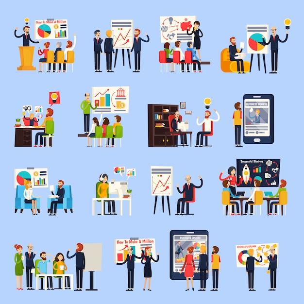 Business coaching ortogonal people Darmowych Wektorów