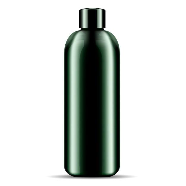 Butelka kosmetyków do kąpieli pod prysznic z szamponem Premium Wektorów