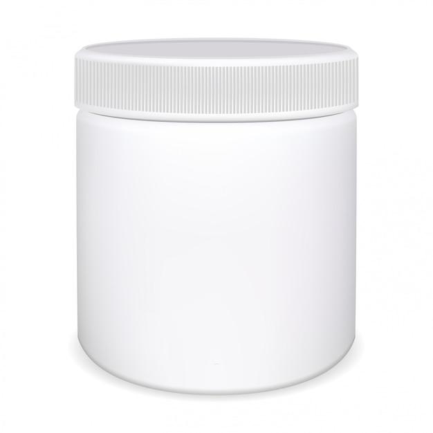 Butelka pigułki leku, słoik witaminy Premium Wektorów