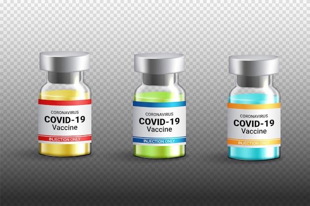 Butelka Szczepionki Covid-19 Izolowana Premium Wektorów