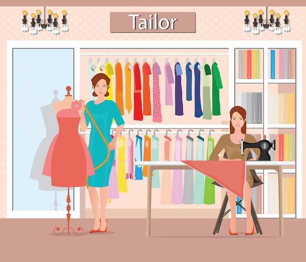 Butikowy Kryty Kobiecej Odzieży Mody Premium Wektorów