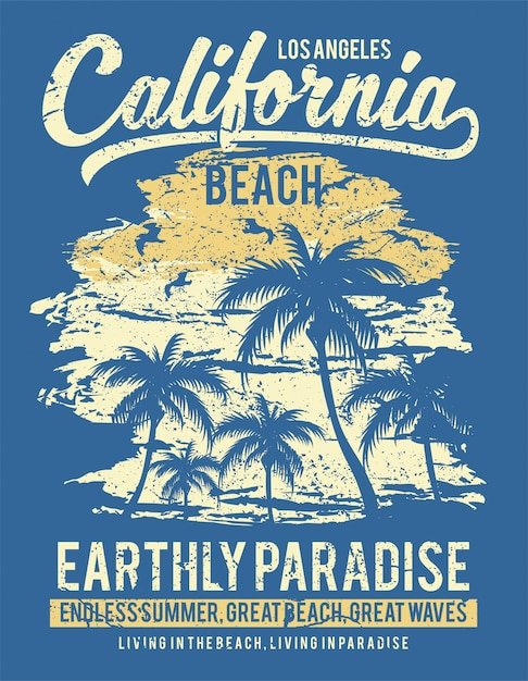 California Beach Premium Wektorów