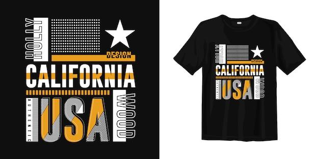 California Hollywood, Usa Modny Projekt Koszulki Do Nadruku Premium Wektorów