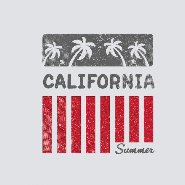 California Ilustracji Plaży Premium Wektorów