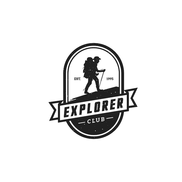 Camping Logo Premium Wektorów