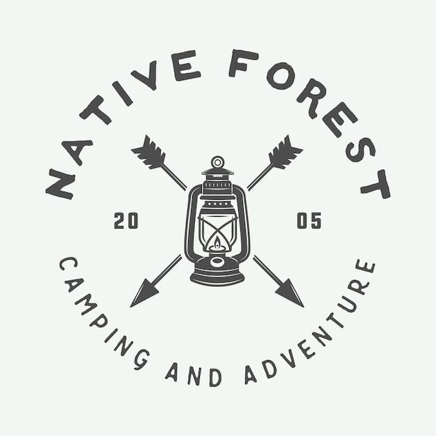 Camping Outdoor Logo Premium Wektorów