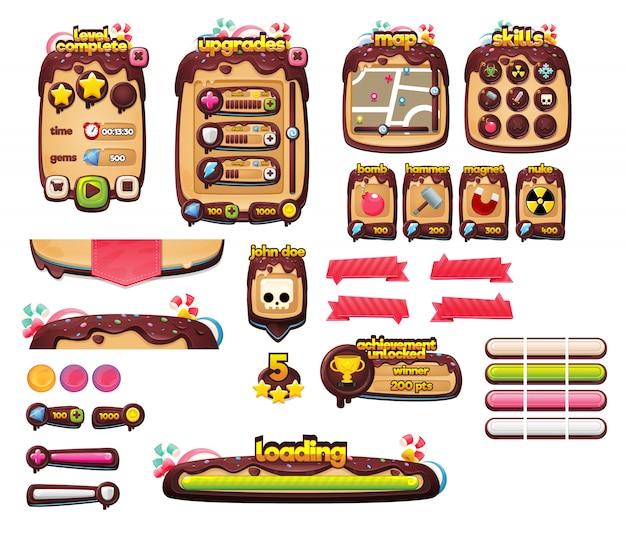 Candy Game Gui Premium Wektorów