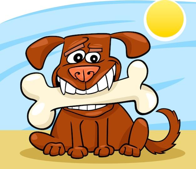 Cartoon Dog Z Dużych Kości Premium Wektorów