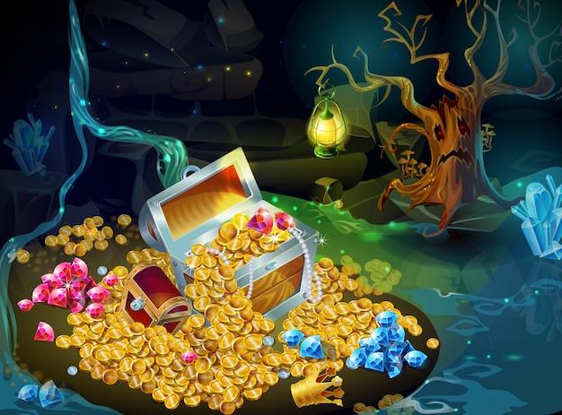 Cartoon Game Treasure And Trophies Darmowych Wektorów