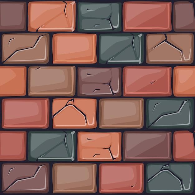 Cartoon Kolorowe Kamienne ściany Tekstury Premium Wektorów