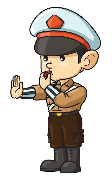 Cartoon Police Premium Wektorów