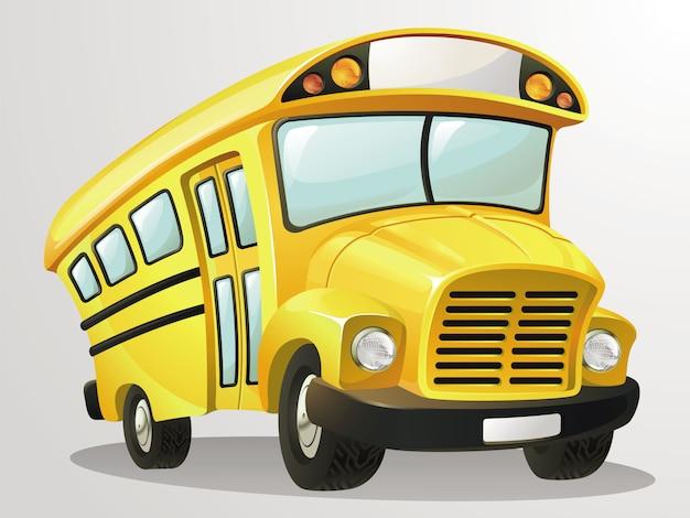 Cartoon School Bus Premium Wektorów