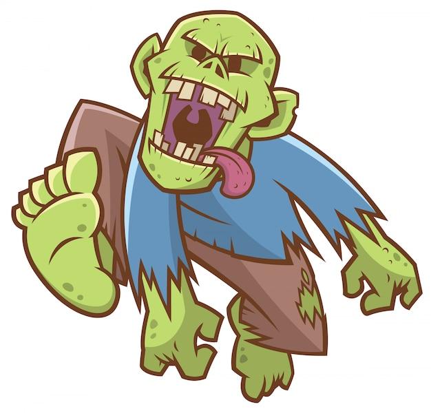 Cartoon zombie Premium Wektorów