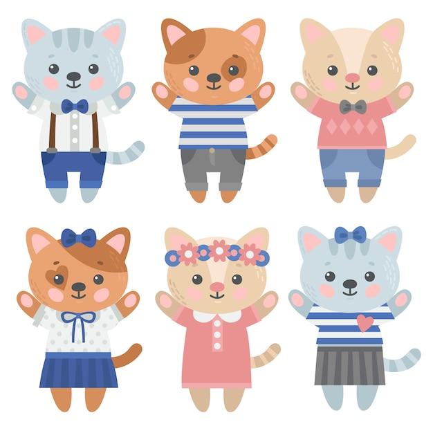 Cat projektuje kolekcję Darmowych Wektorów