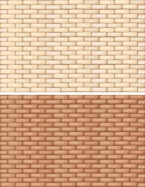 Ceglane ściany w dwóch odcieniach brązu Darmowych Wektorów