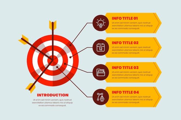 Cele Infografiki Premium Wektorów