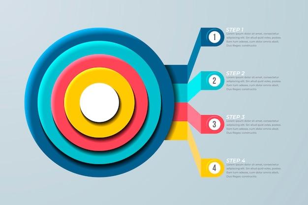 Cele Infographic Biznes Koncepcja Darmowych Wektorów