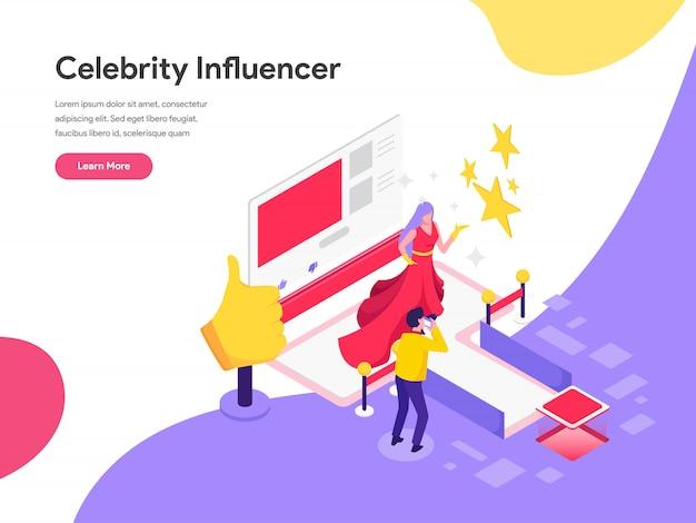 Celebrity Influencer Illustration Concept Premium Wektorów