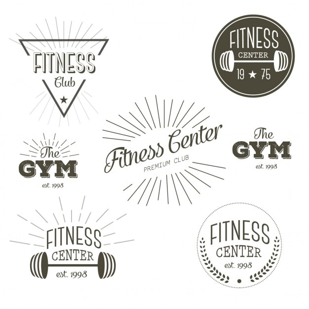 Centrum Fitness Darmowych Wektorów