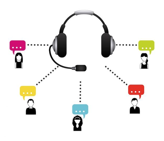 Centrum telefoniczne Premium Wektorów