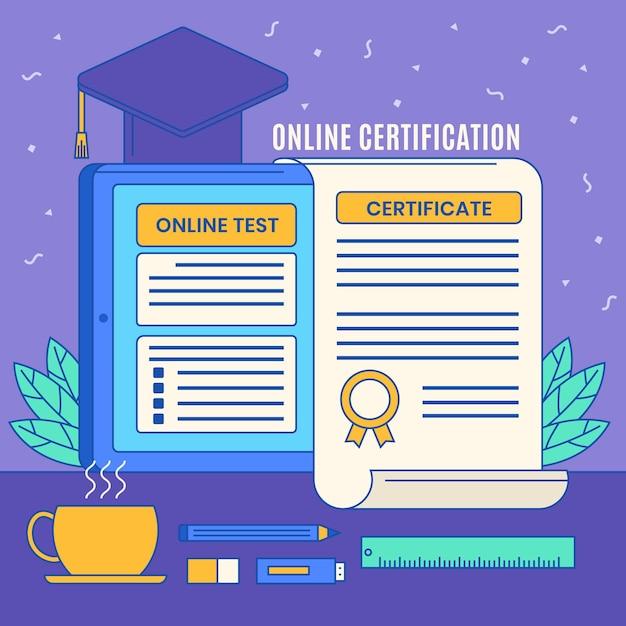 Certyfikacja Online Darmowych Wektorów