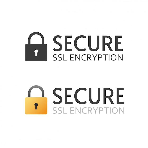 Certyfikat Ssl Wektor Ikona Czarno-biały Znak Lub Bezpieczny Zaszyfrowany Symbol Płatności Premium Wektorów