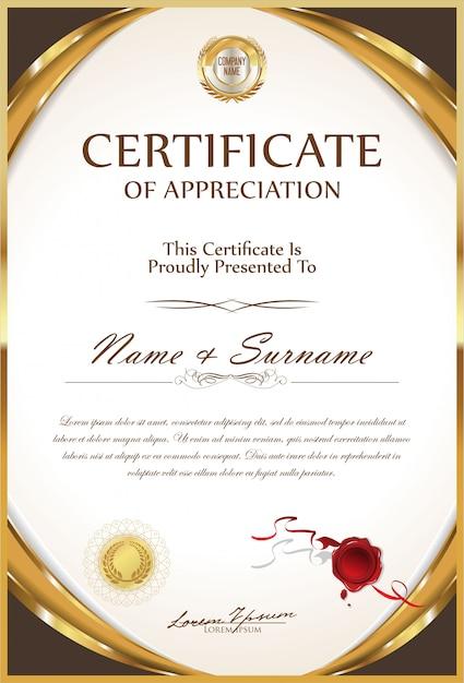 Certyfikat Premium Wektorów