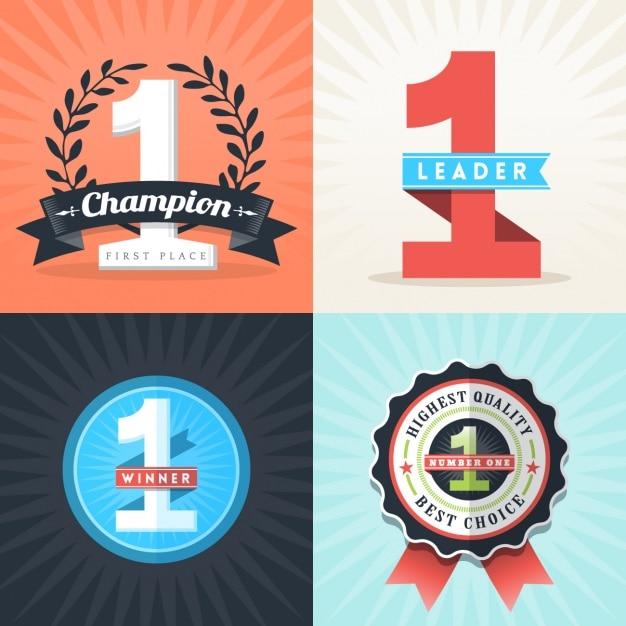 Champion insygnia zestaw Darmowych Wektorów