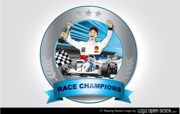 Champions Zwycięzca Logo Wyścigu Darmowych Wektorów