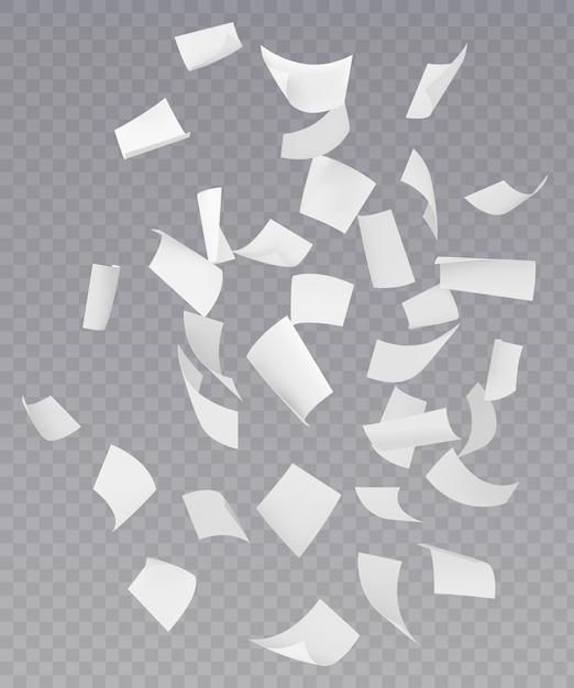 Chaotycznie Spadające Arkusze Papieru Latającego Darmowych Wektorów