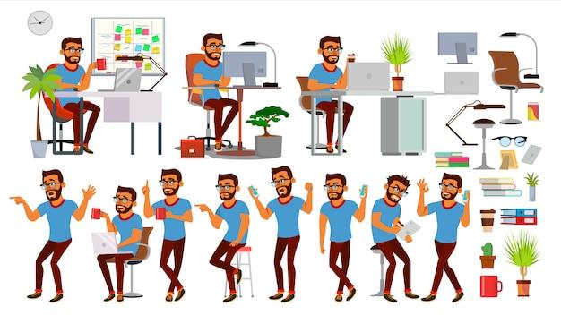 Charakter człowieka biznesu Premium Wektorów