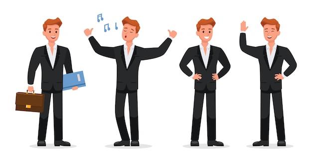 Charakter Ludzi Biznesu Premium Wektorów