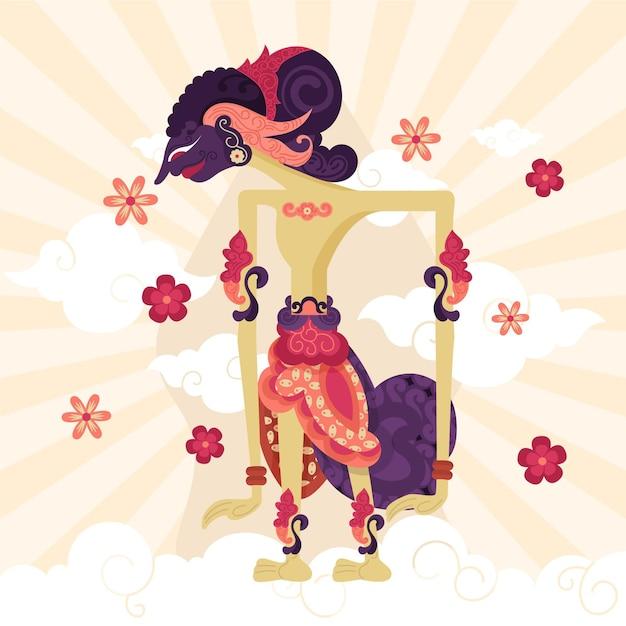 Charakter Wayang Kulit Darmowych Wektorów