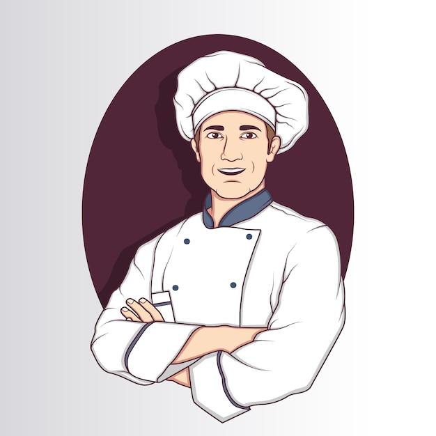 Chef charakter projektowania Darmowych Wektorów