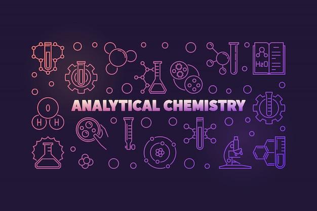 Chemia analityczna kolorowy kontur ilustracja Premium Wektorów