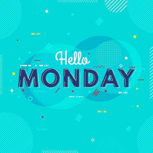 Chill Cześć Poniedziałek Tło Darmowych Wektorów