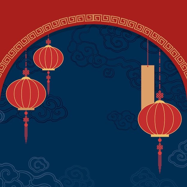 Chińska nowego roku makieta ilustracja Darmowych Wektorów