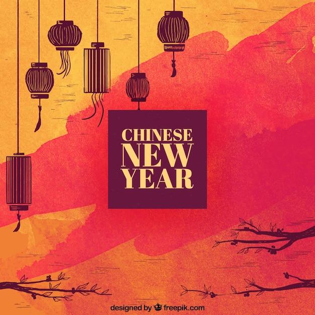Chiński nowy rok tło Darmowych Wektorów